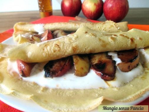 Crepes dolci light con mela e cannella, Mangia senza Pancia