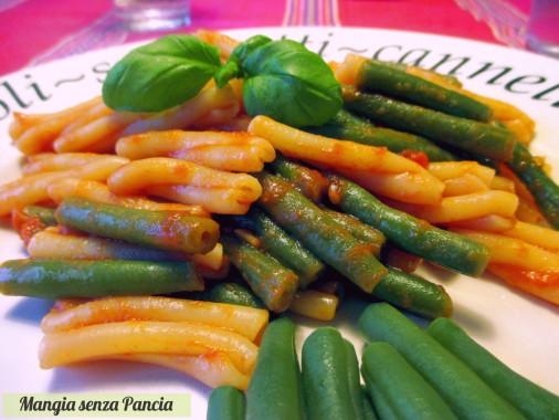 Pasta fagiolini e pomodoro light, Mangia senza Pancia