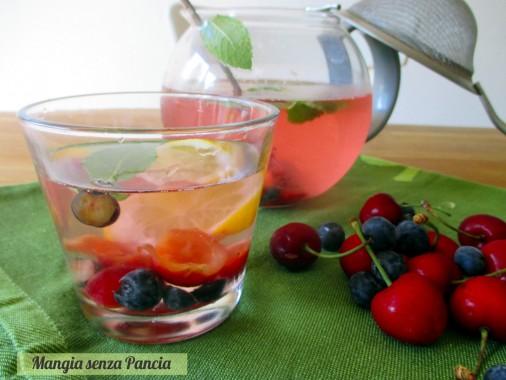 Bevanda depurativa mirtilli e ciliegie, Mangia senza Pancia
