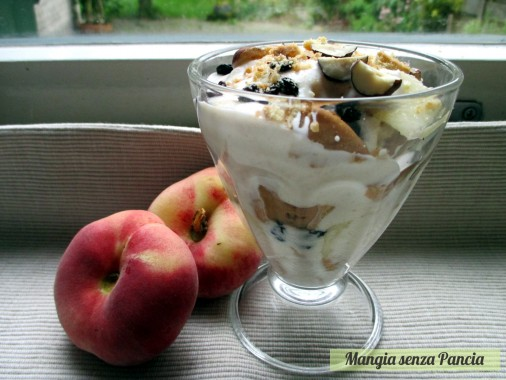 Coppa yogurt e pesche con sorpresa, Mangia senza Pancia