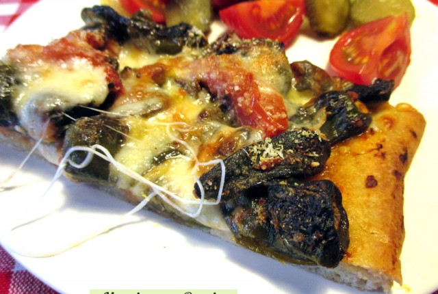 Pizza provola e peperoncini verdi dolci light