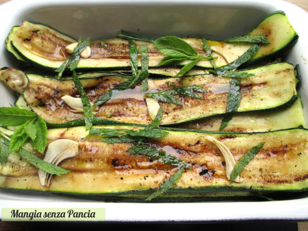 Zucchine grigliate alla menta, Mangia senza Pancia