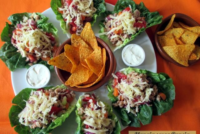 Tacos vegetariani di lattuga