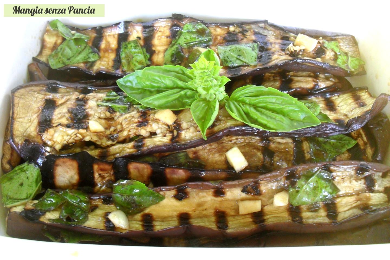 Melanzane grigliate al basilico