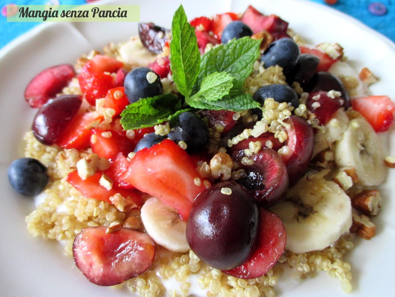 abbastanza Yogurt con quinoa e frutta - Mangia senza Pancia AH93