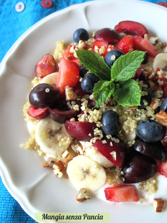 Preferenza Yogurt con quinoa e frutta - Mangia senza Pancia QM81