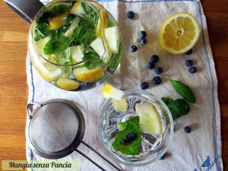 Bevanda depurativa basilico e limone, Mangia senza Pancia