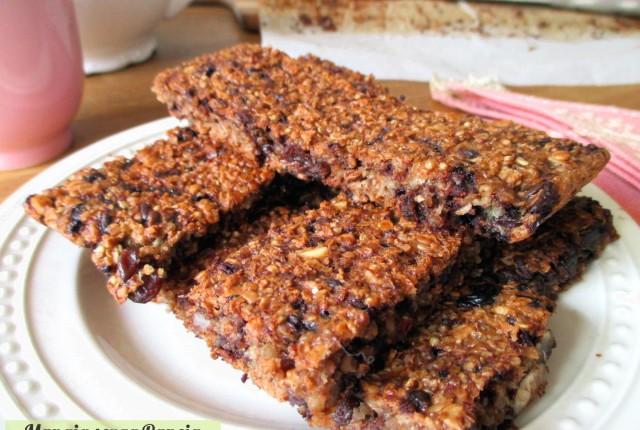Barrette quinoa, cereali e cioccolato