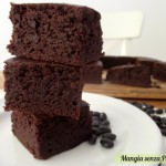Brownie senza farina al cacao, Dolci leggeri per Natale e feste 2014, Mangia senza Pancia