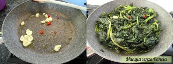 Cime di rapa aglio olio e peperoncino, Mangia senza Pancia