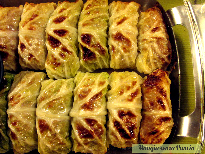 involtini verza e carne leggeri mangia senza pancia