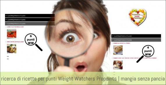 Ricerca ricette per punti Weight Watchers, Mangia senza Pancia