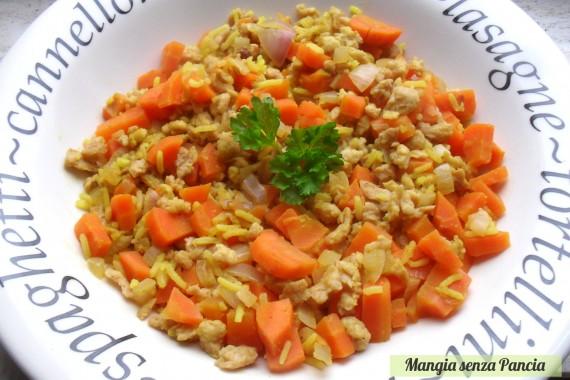 Riso carote e bocconcini di soia
