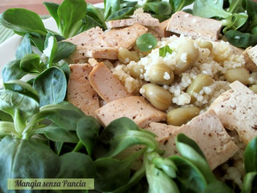 Couscous fave e tofu gratinato, Mangia senza Pancia