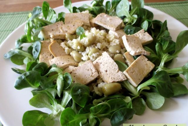 Couscous fave e tofu grigliato