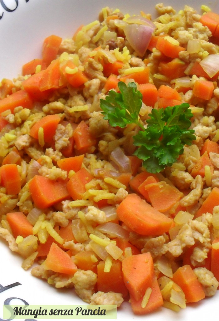 Riso carote e soia, Mangia senza Pancia