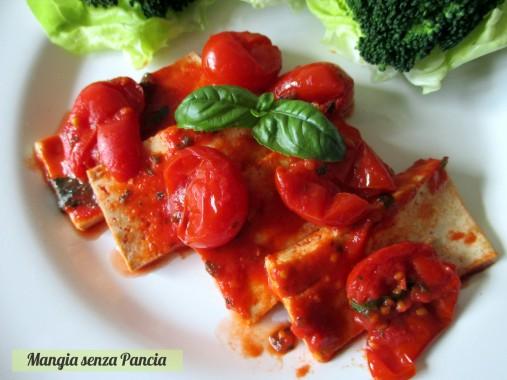 Tofu alla pizzaiola, ricetta leggera e vegan, Mangia senza Pancia
