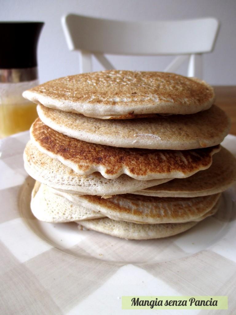 Pancakes senza glutine, uova o lattosio, Mangia senza Pancia