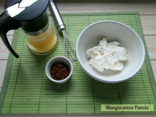 Crema cacao e ricotta senza cottura, Mangia senza Pancia