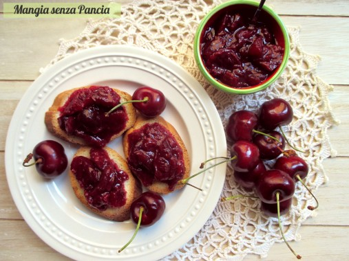 Composta di ciliegie a pezzettoni, Mangia senza Pancia