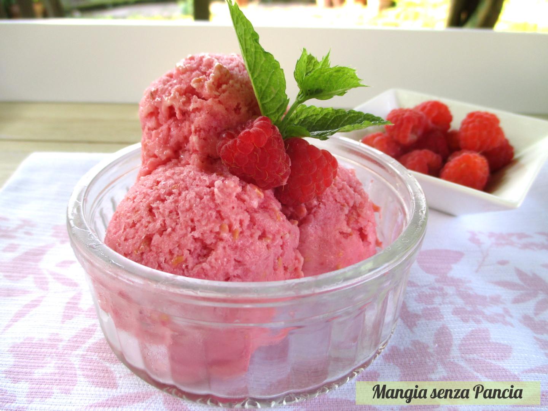 Sorbetto ai lamponi con yogurt: sherbet