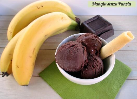 Gelato al cioccolato e banana congelata, Mangia senza Pancia