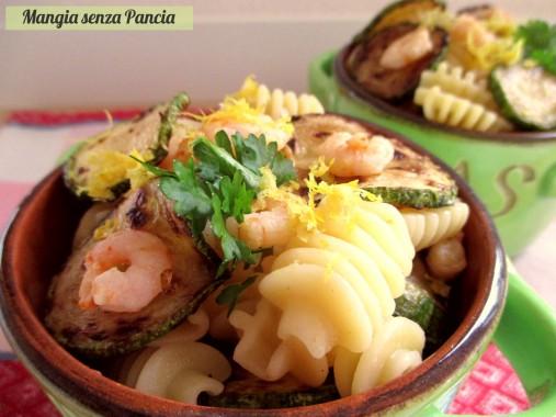 Pasta con zucchine e gamberetti al limone, Manga senza Pancia