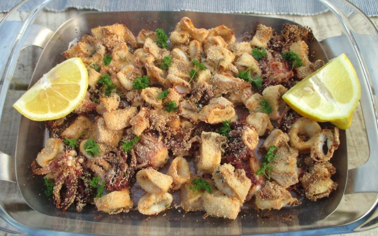 Calamari gratinati al forno light