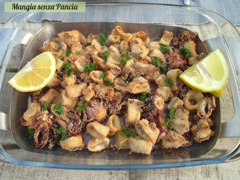 Calamari gratinati al forno light mangia senza pancia