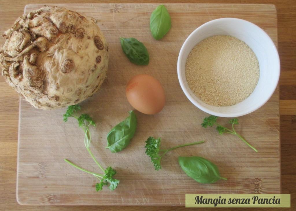 Cotolette di sedano rapa senza olio al forno o fornetto Estense, Mangia senza Pancia