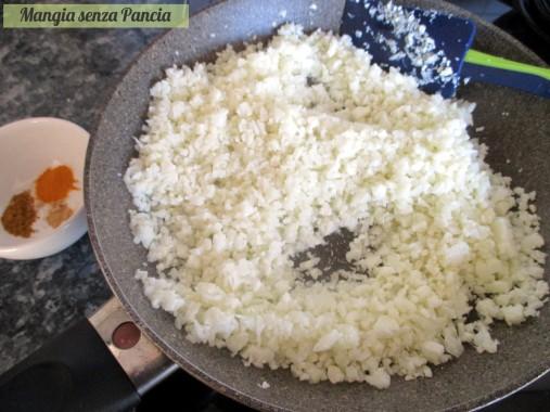 Finto riso di cavolfiore al curry, Mangia senza Pancia