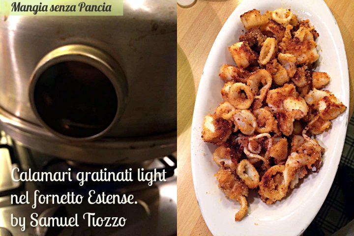 Calamari gratinati al forno light, versione estense Samuel Tiozzo, Mangia senza Pancia