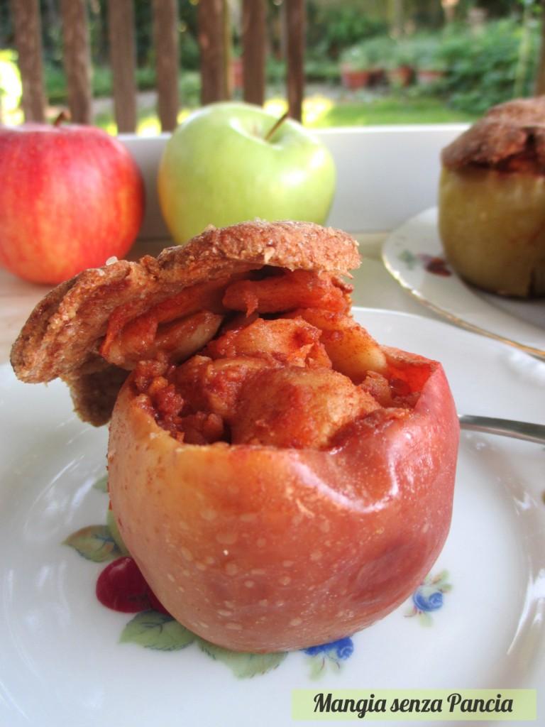 Mini apple pie integrali nella mela, Mangia senza Pancia