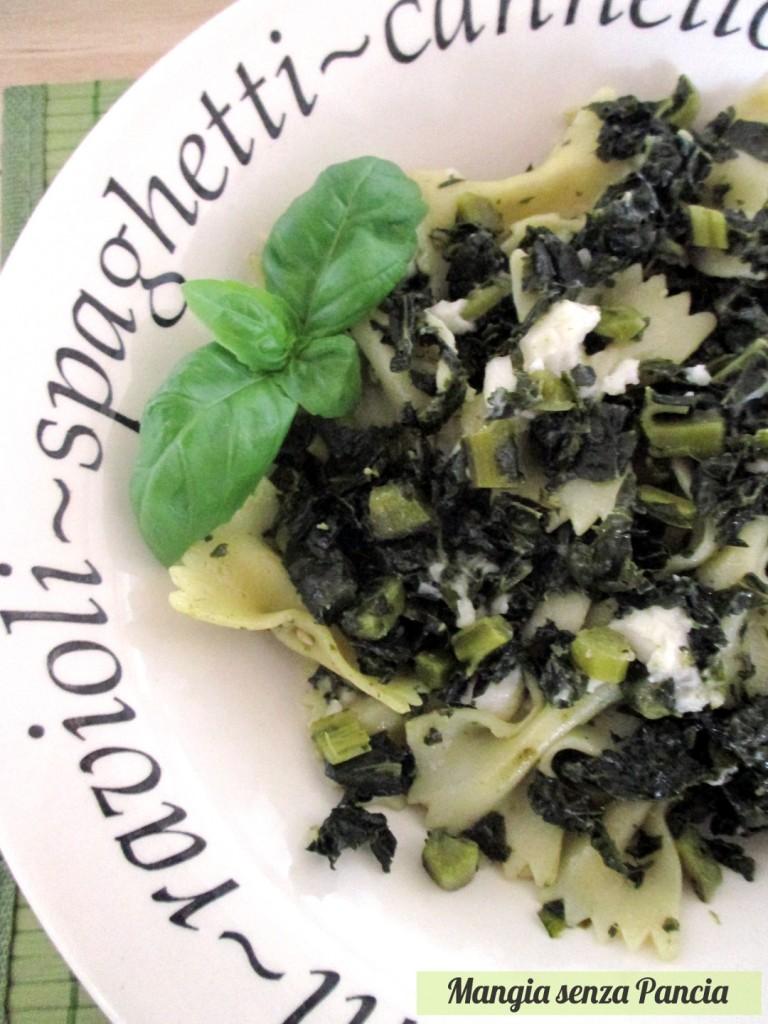 Pasta con cavolo nero cremosa vegan, Mangia senza Pancia