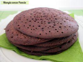 Pancakes al cacao vegan e senza glutine