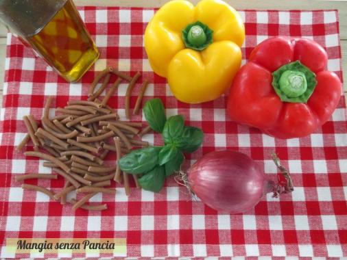 Pasta integrale con peperoni light, Mangia senza Pancia