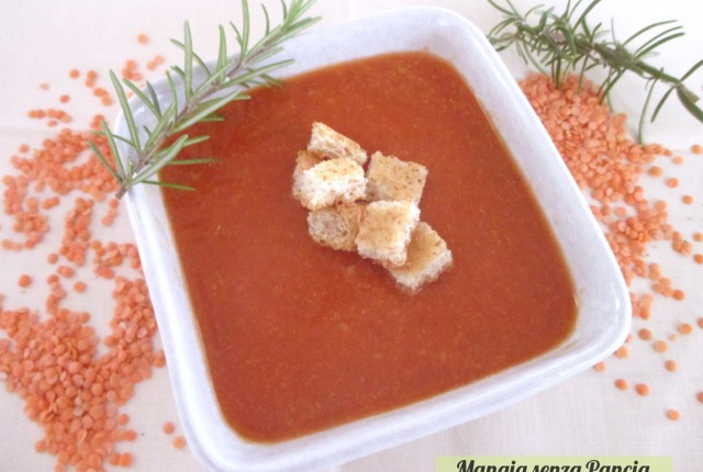 Passato di lenticchie rosse vegan, Mangia senza pancia