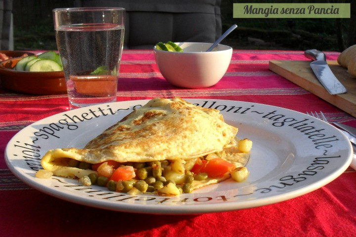 Omelette con verdure Bonne Femme, Mangia senza Pancia