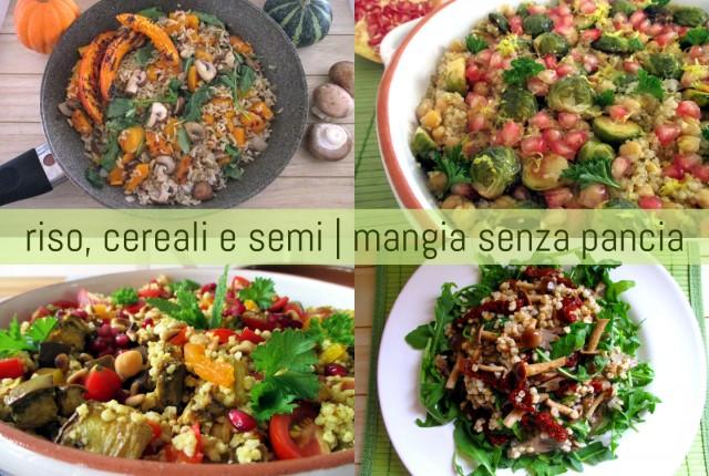 Ricette leggere con riso e altri cereali e semi, Mangia senza Pancia