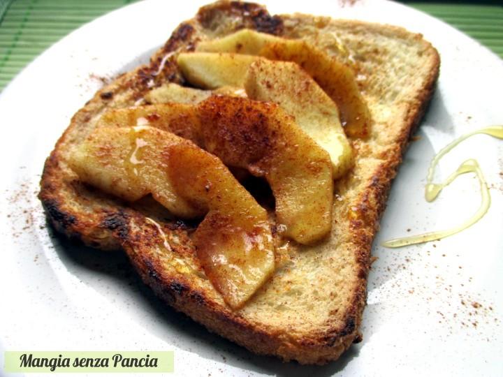 French toast con mele e cannella, Mangia senza Pancia