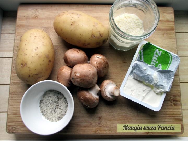 Patate ripiene al formaggio e funghi, jacket potatoes, Mangia senza Pancia