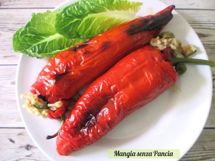 Peperoni ripieni tonno e riso, Mangia senza Pancia