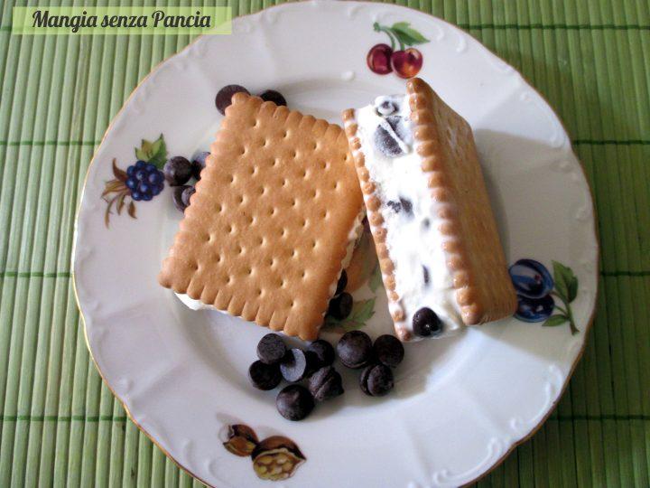 Biscotto gelato light con gocce di cioccolato, Mangia senza Pancia