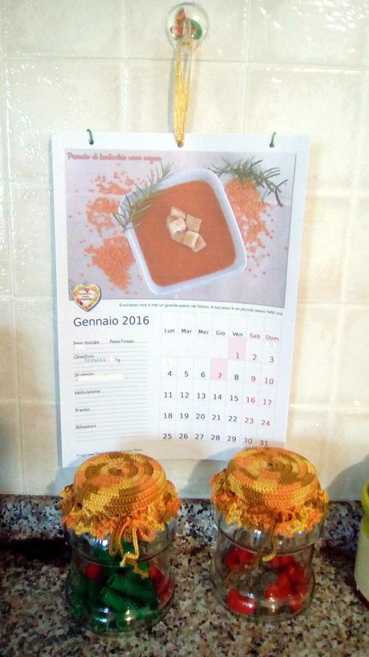 Calendario 2017, calendario 2016 stampato e rilegato da Giusy Candido, Mangia senza Pancia