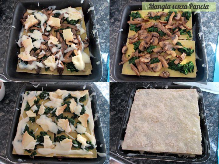 Lasagne ai funghi e spinaci, Mangia senza Pancia