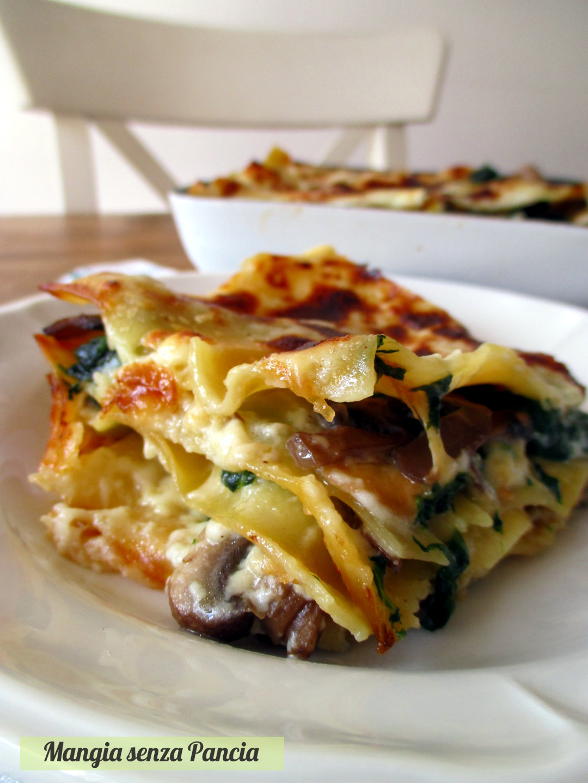 Ricetta Lasagne Ai Funghi.Lasagne Ai Funghi E Spinaci