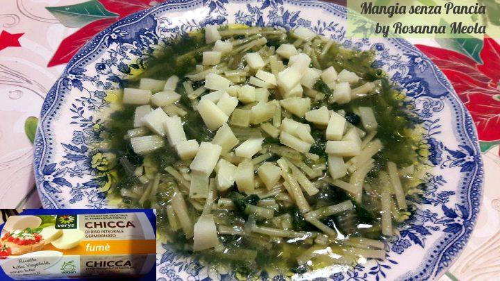 Pasta con scarola alla siciliana, versione vegan Rosalla Meola, Mangia senza Pancia