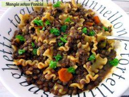 Pasta e lenticchie light alla napoletana
