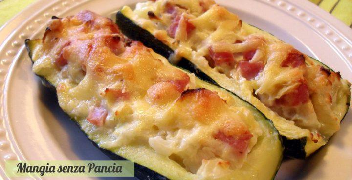 Zucchine ripiene light, ricetta facile, Mangia senza Pancia
