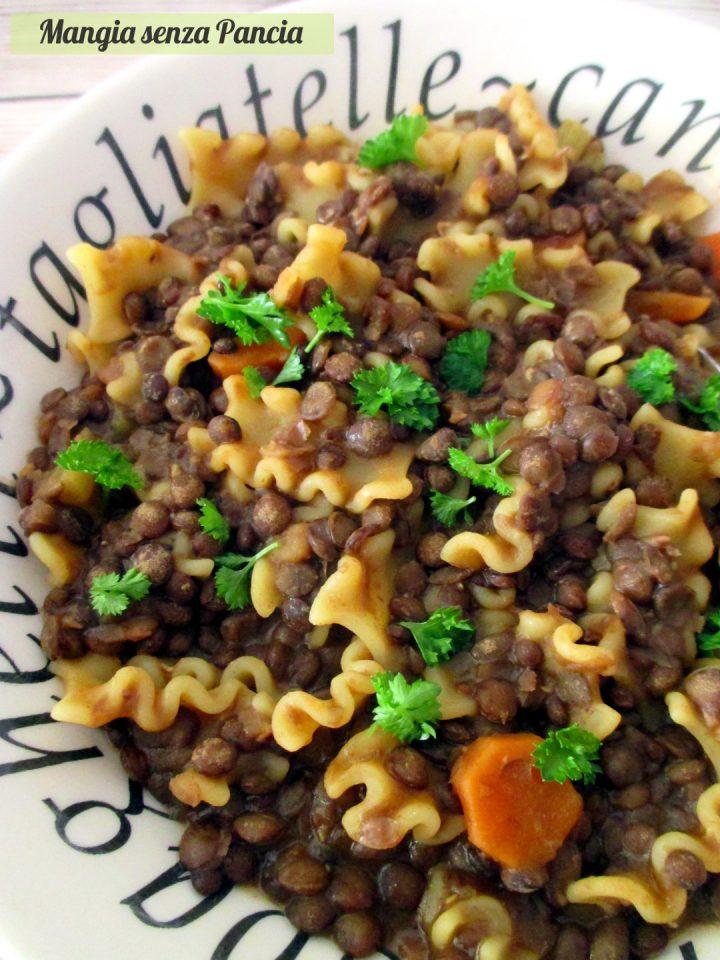 Pasta e lenticchie light, Mangia senza Pancia
